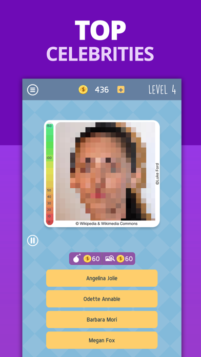 Celebrity Guess: Icon Pop Quiz Screenshot on iOS