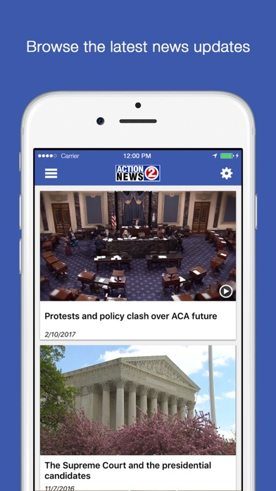 Action 2 News On the Go - WBAY iOS Application Version 1 1 2