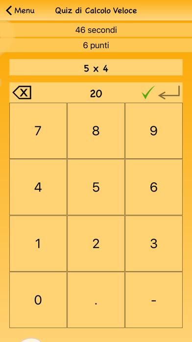 Screenshot of Quiz di Calcolo Veloce3