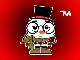 Christmas Stickers: Lex Snowman