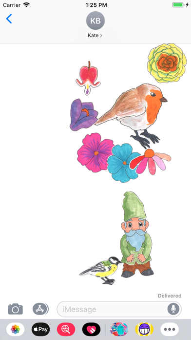 Screenshot for A Gardener's Stickers in United States App Store
