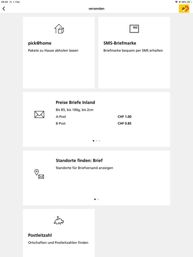 Aplikacja Die Post W App Store