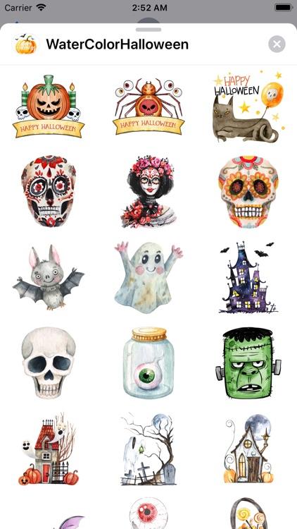 WaterColor Halloween Stickers screenshot-5