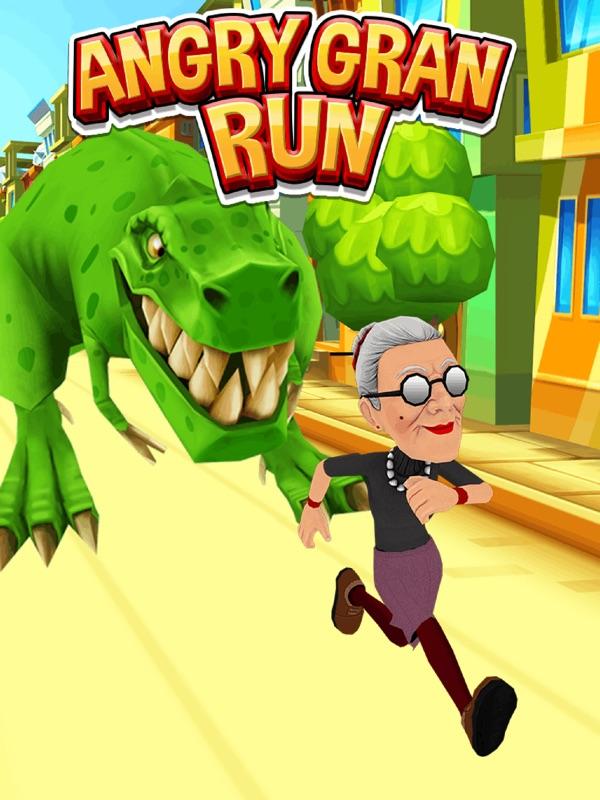 愤怒的老奶奶跑酷截图1