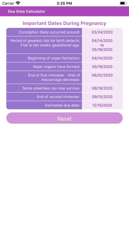 Due Date Calculator