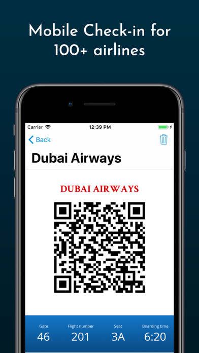Screenshot for Boarding Pass - Flight Checkin in Azerbaijan App Store