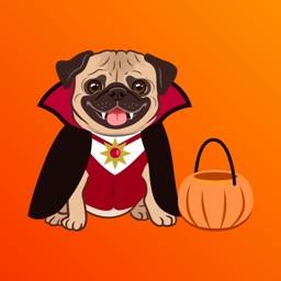Cutest Halloween Pugs Sticker