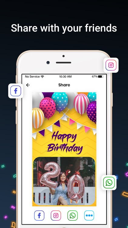 Bday Video Maker, Wishes,Cards screenshot-9