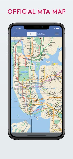 Late Night Weekend Subway Map Ny.New York City Mta Subway Map On The App Store