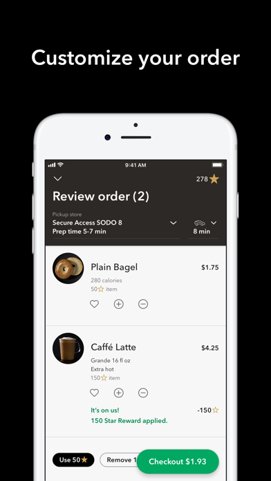 Screenshot for Starbucks in United States App Store