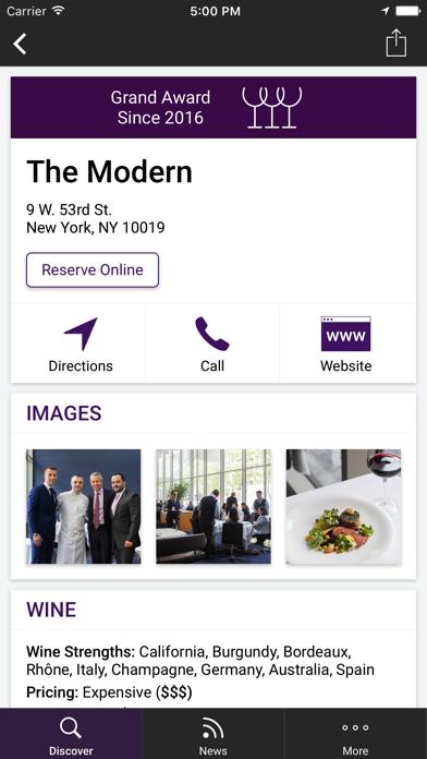 Restaurant Awards Screenshot