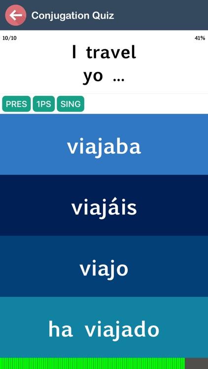Spanish Verb Blitz screenshot-3