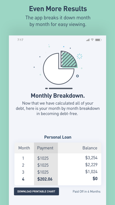 Screenshot for Debt Snowball Calculator in United States App Store