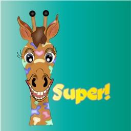 Giraffe Rainbow Text