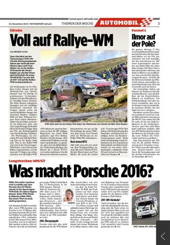 MOTORSPORT aktuell Digital - náhled