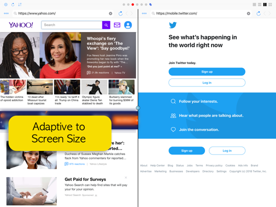 Split Screen: MultiTasking Web Screenshots