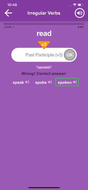 Verbes Irreguliers Anglaiss Dans L App Store