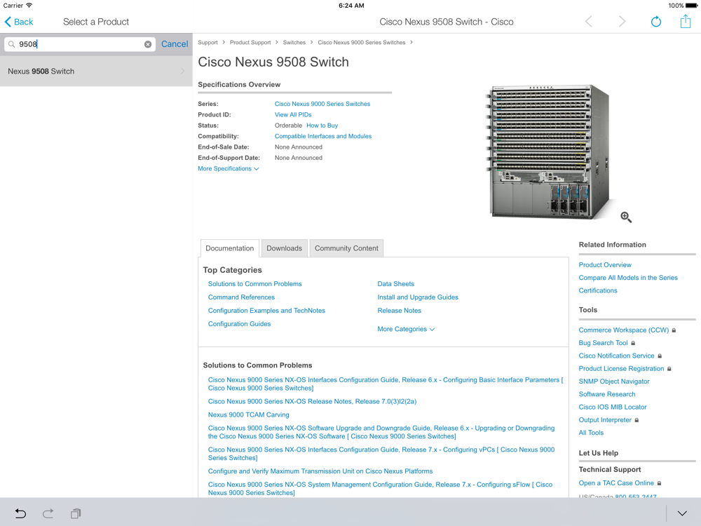 Cisco Technical Support App for iPhone - Free Download Cisco