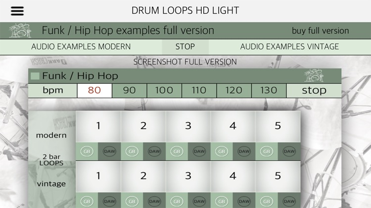 Drum Loops HD Light screenshot-5