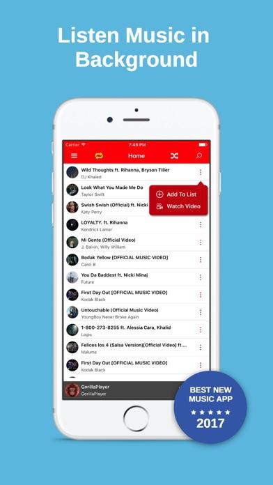 GorillaPlayer - Music Player screenshot one