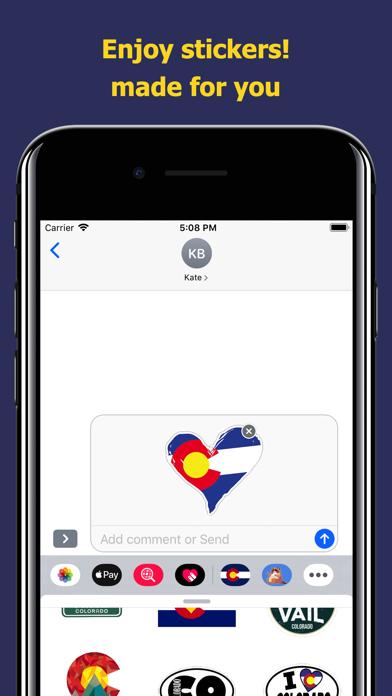 Сolorado emojis - USA stickers screenshot 5