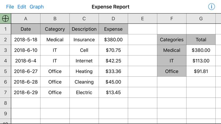 Utility Spreadsheet Pro screenshot-4