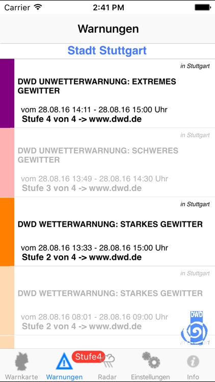 Wetter-Warner screenshot-3