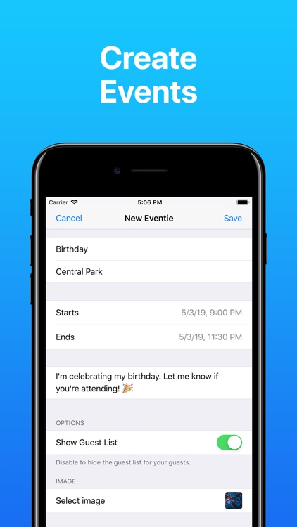 Eventie: Create Events