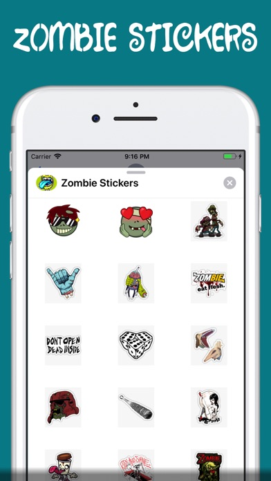 Screenshot for zombie stickers † in Turkey App Store