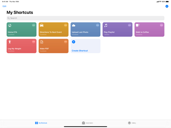 Shortcuts screenshot 6