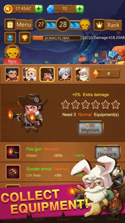 Idle Monster Defense -RPG Game screenshot-3