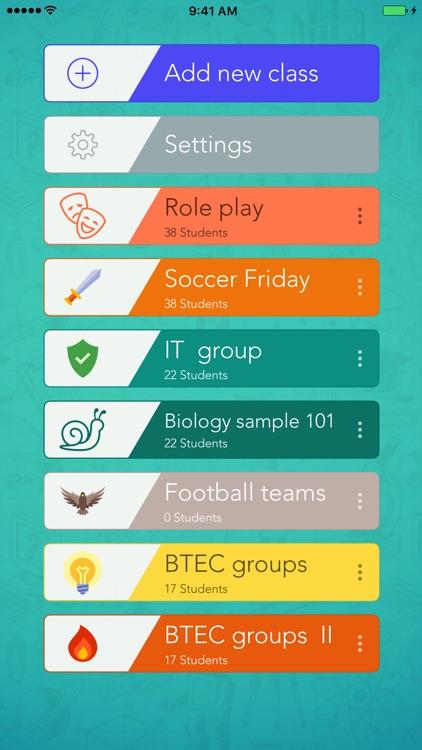 Classroom Teammates by iDoceo