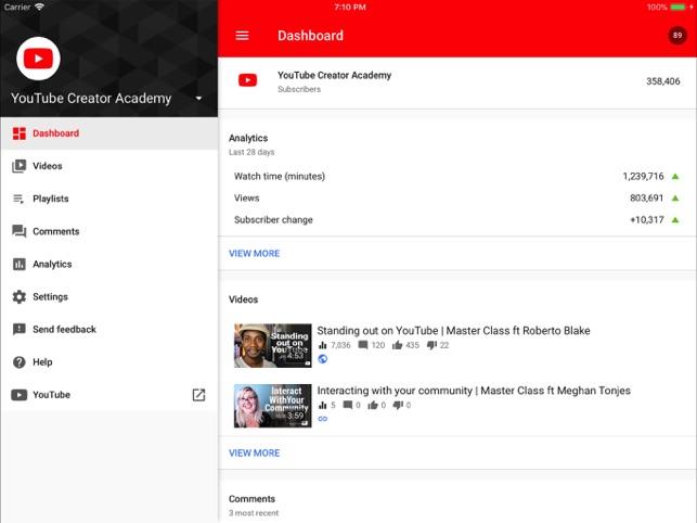 YouTube Studio on the App Store