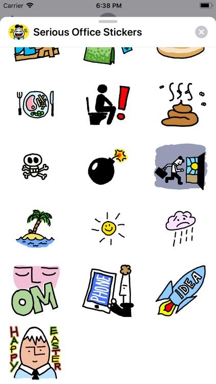 Serious Office Stickers screenshot-5