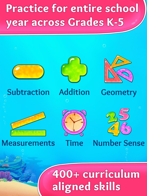 3rd Grade Math. Multiplication, Fractions and more screenshot