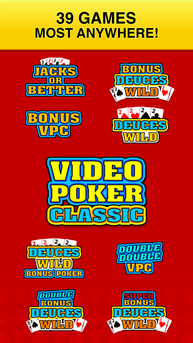 Screenshot #3 pour Video Poker Classic - 39 Games