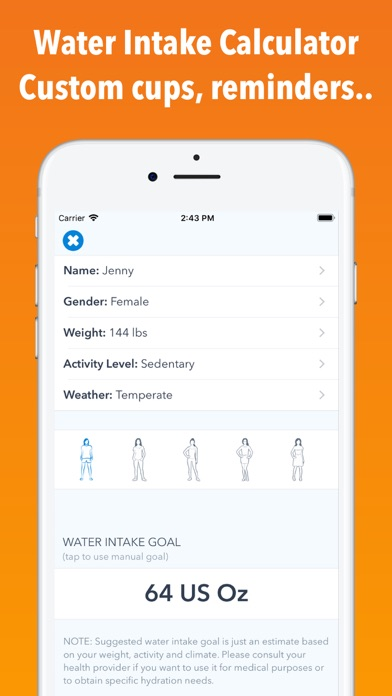 Screenshot for WaterMinder® in Singapore App Store