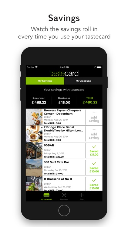 tastecard dining discounts screenshot-4