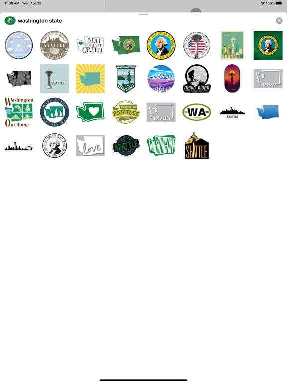 Washington state - USA emoji screenshot 3