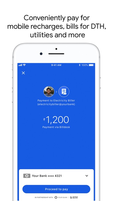 Screen Shot Google Pay for India (Tez) 1