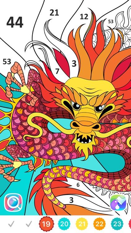 Line Art: Coloring book screenshot-3