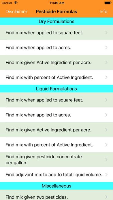 Pesticide Formulas app image