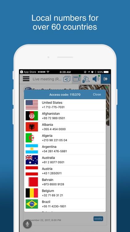 Free Conference Call screenshot-4