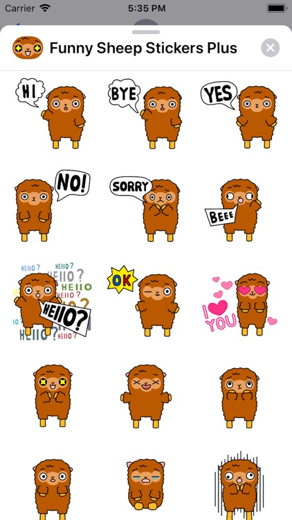 Funny Sheep Stickers Plus
