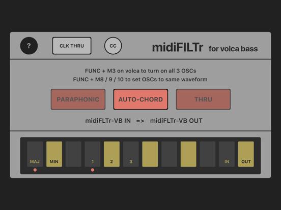 midiFILTr-VB for Volca Bass