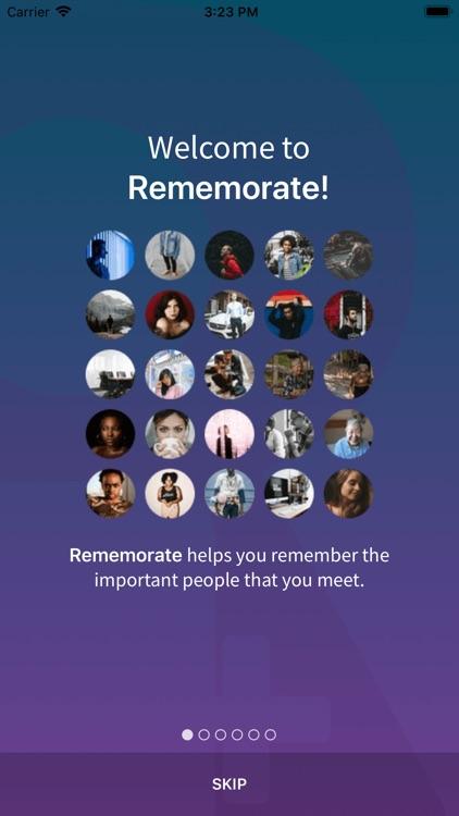 Rememorate | Remembering Names
