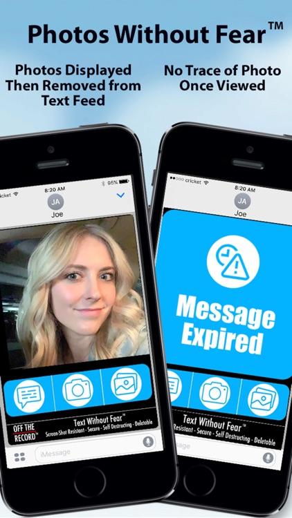Off The Record Texting & Pics screenshot-0