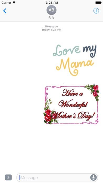 I Love Mom Animated Sticker screenshot 1