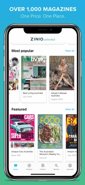 ZINIO Unlimited - Magazines on the App Store