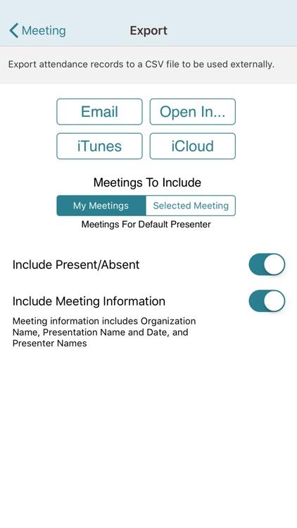 Meeting Attendance for iPhone screenshot-4